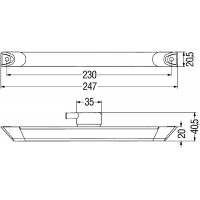 (END)OUTLINE MARKER LAMP RED MD12 2XS